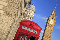 Red phone box in London UK Royalty Free Stock Photos
