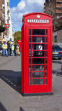 Red phone box in London. Stock Photography
