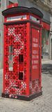 Red phone box Stock Photography