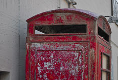 Red phone box in Turin Stock Image