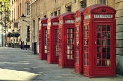 Red Phone Boxes, London Stock Image