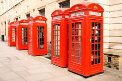 Red phone boxes London Royalty Free Stock Images
