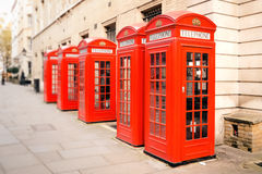 Red phone boxes London Royalty Free Stock Image