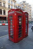 Red phone cab in london Stock Image