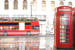 Red Phone cabine in London. Royalty Free Stock Photo