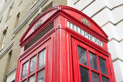 Red Phone cabine in London. Royalty Free Stock Image