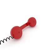 Red phone, contact or service concept Royalty Free Stock Image