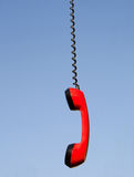 Red phone handset Stock Image