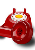 Red phone isolated. Ilustration of very important phone Royalty Free Stock Photos