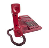 Red phone isolated Stock Photo