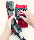 Red phone Royalty Free Stock Photos