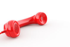 Red Phone Receiver Royalty Free Stock Image