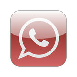 Red phone in speech bubble icon. Graphic illustration Stock Images