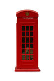 Red Phonebooth. Mini red phonebooth (originally a coin place), isolated Stock Photos