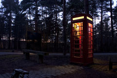 Red phonebox Stock Images