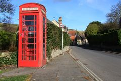 Red Phonebox Royalty Free Stock Photography