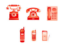 Red phones Stock Image