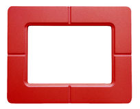 Red Photo frame - isolated on white background Stock Images
