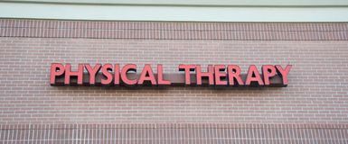Physical Therapy Sign Royalty Free Stock Photography