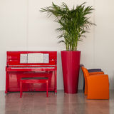 Red piano Stock Images