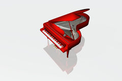 Red piano isolated Royalty Free Stock Photography