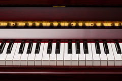 Red piano keys Stock Photography