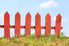 Red picket fence Royalty Free Stock Photo