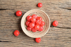 Red pickle cherry fruit Royalty Free Stock Image