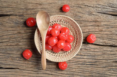 Red pickle cherry fruit Royalty Free Stock Photography