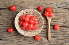 Red pickle cherry fruit Stock Image