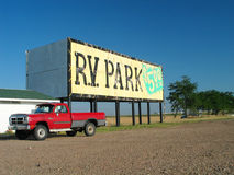 Red pickup Royalty Free Stock Photography