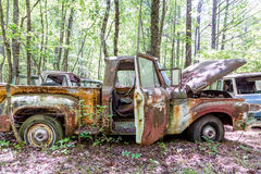Red Pickup Doors and Hood Open Royalty Free Stock Photos