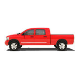 Red pickup isolated Royalty Free Stock Photography