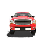 Red pickup isolated Royalty Free Stock Images