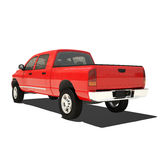 Red pickup isolated Royalty Free Stock Image