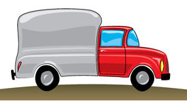 Red pickup track stock photography