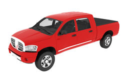 Red pickup truck Stock Photos