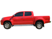 Red pickup truck Stock Images