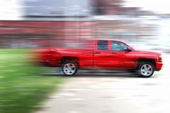 Red pickup truck royalty free stock photography