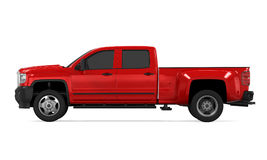 Red Pickup Truck Isolated. On white background. 3D render Stock Photos