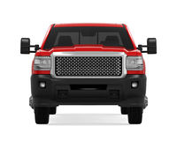 Red Pickup Truck Isolated. On white background. 3D render Royalty Free Stock Photos