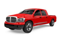 Red Pickup Truck Isolated. On white background. 3D render Royalty Free Stock Images