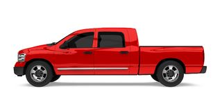 Red Pickup Truck Isolated. On white background. 3D render Stock Images