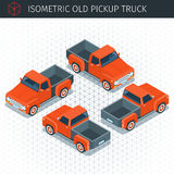 Red pickup truck Royalty Free Stock Photo