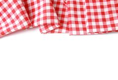 Red Picnic Cloth On Wooden Background.Napkin Tablecloth On ...