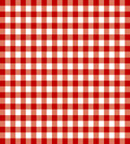 Red picnic cloth Stock Photo