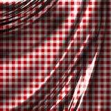 Red picnic cloth. With some smooth folds Stock Photo