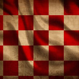 Red picnic cloth. With some folds in it Stock Photos