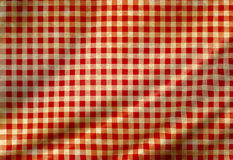 Red picnic cloth. With some smooth folds in it Royalty Free Stock Photo