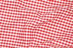 Red picnic cloth Royalty Free Stock Images